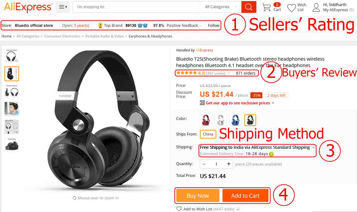 How to Buy Products From AliExpress in India