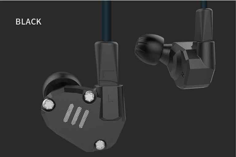 KZ ZS6 Custom-built Hybrid HiFi In-ear Earphones – BLACK