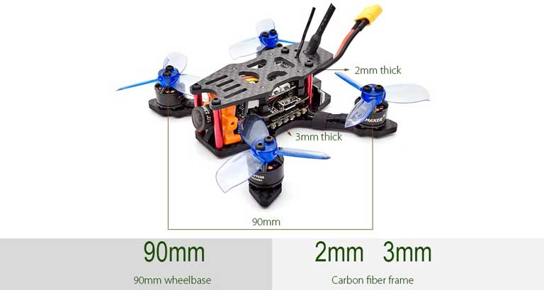 SPC MAKER Brushless FPV Racing Drone