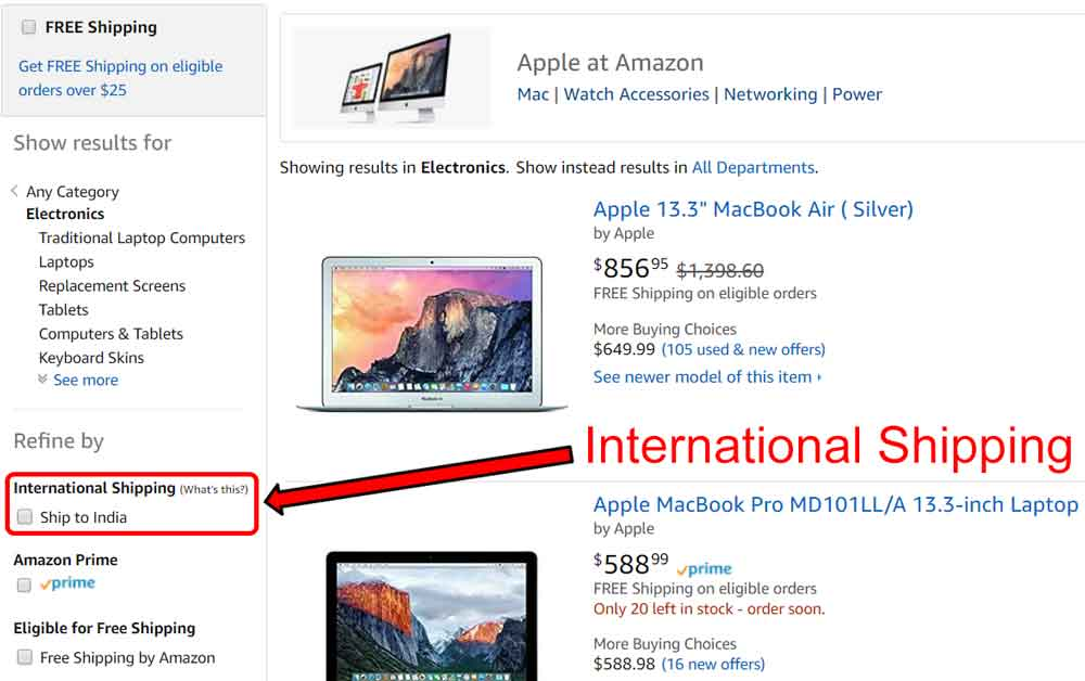 Purchase Products From Amazon Com To India