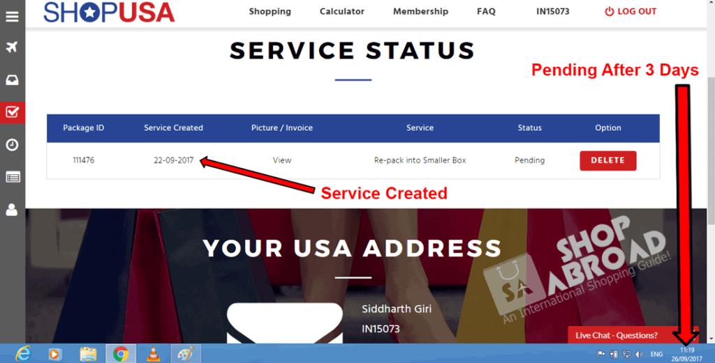 ShopUSA Extra Service.