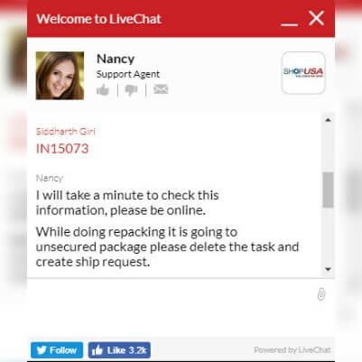 ShopUSA Live Chat Support