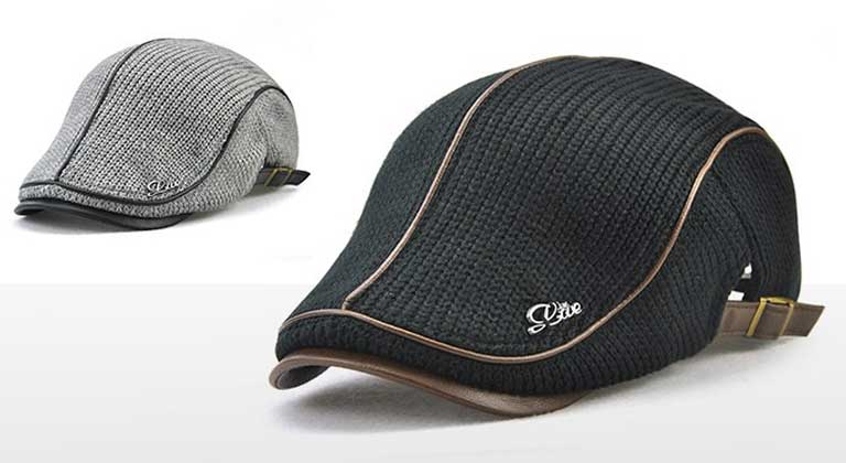JAMONT Thicken Keep Warm Knitted Peaked Cap