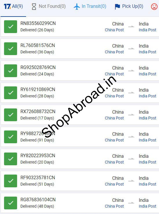 AliExpress China Post Registered Air Mail