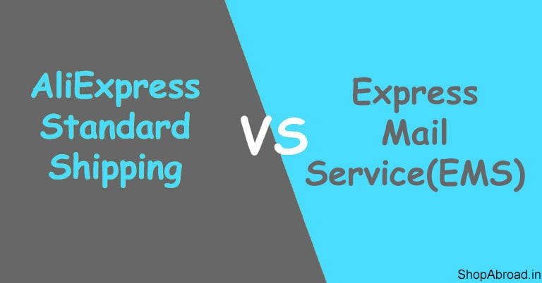 AliExpress Standard Shipping Vs Express Mail Service