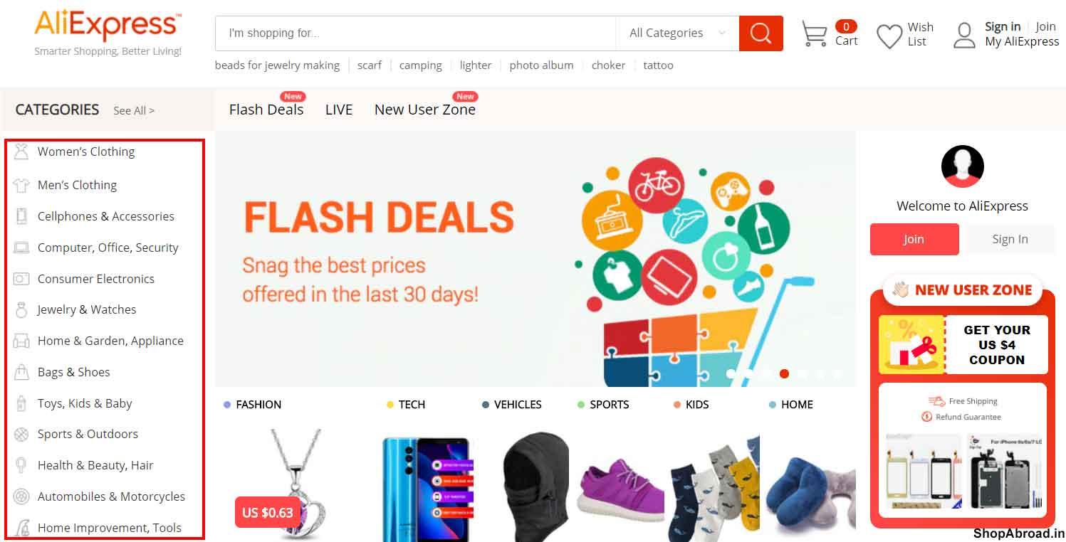 AliExpress Best Selling By Category