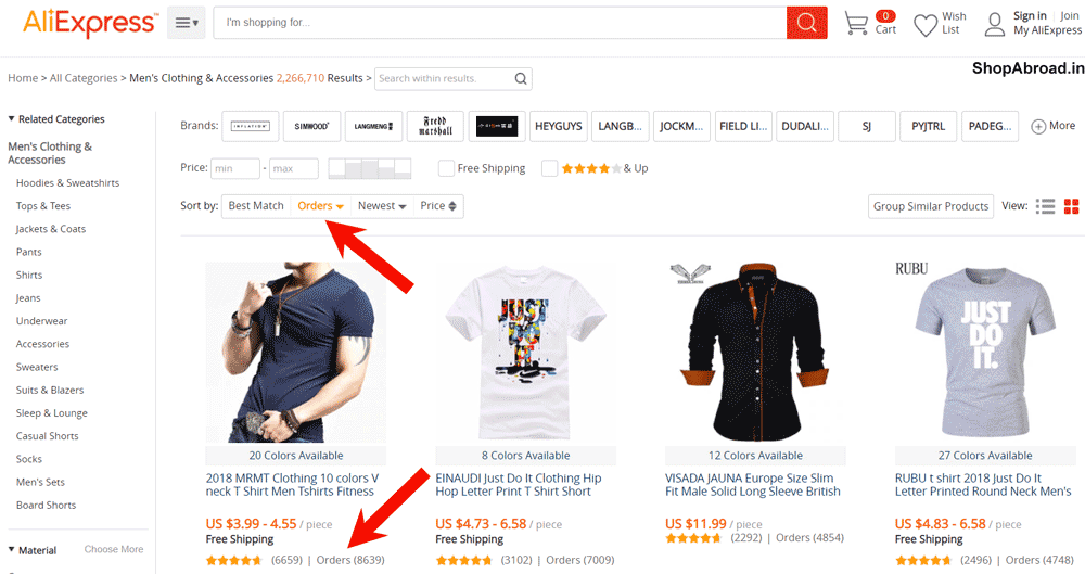 AliExpress Best Selling By Order