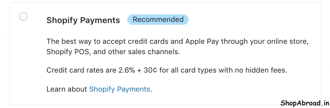 Change Payment Provider in Shopify