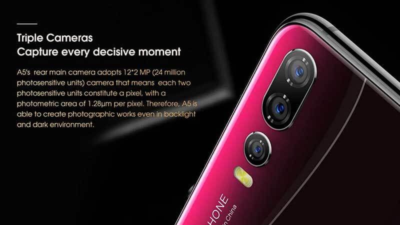 Elephone A5 Camera