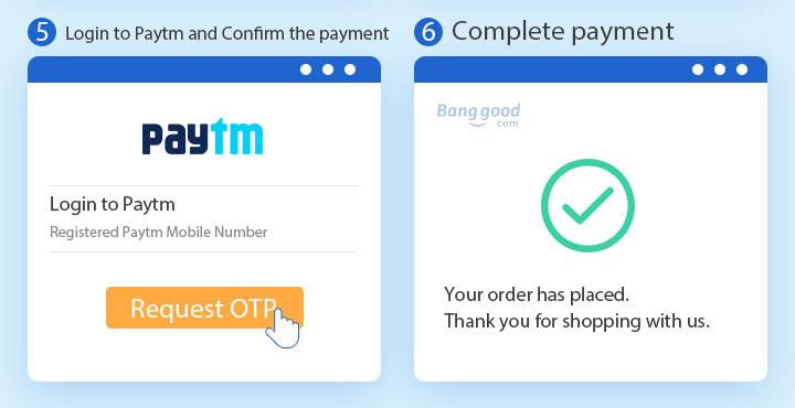 Login To PayTM Account To Pay on Banggood