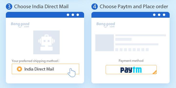 Select PayTM as Payment Method on Banggood