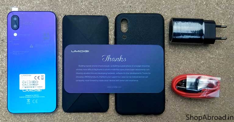 UMIDIGI ONE Unboxing