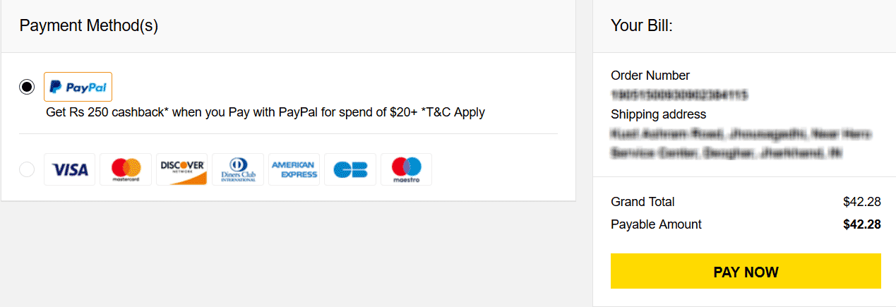 GearBest Payment Using PayPal